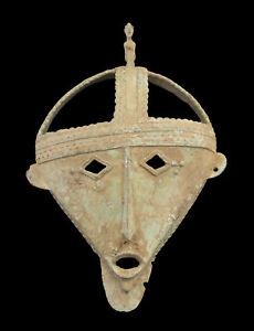 Maschera Dogon Statuetta Primitive Africana Bronzo Guaritore Mali Af 16573 Ab
