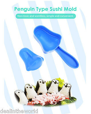 Kitchen DIY Penguin Type Sushi Maker Mould Rice Ball Baby Lunch Mold Kit