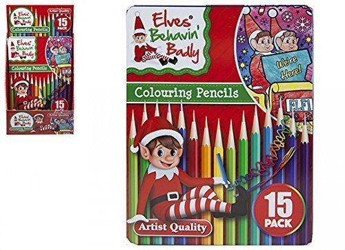 Elves Behaving Badly Colouring Pencils Pack Of 15 PM147-PENCILS