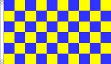 5' x 3' Surrey Flag Blue and Yellow Check England County English Counties Banner