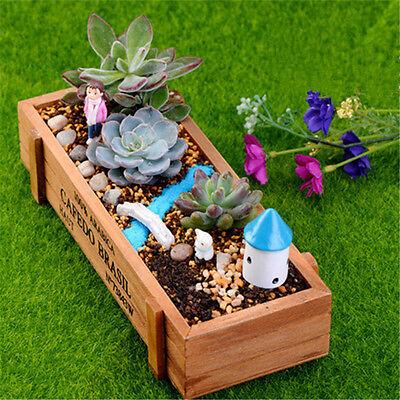 Wood Planter Garden Yard Rectangle Flower Succulent Bed Trough Plant Pot Box