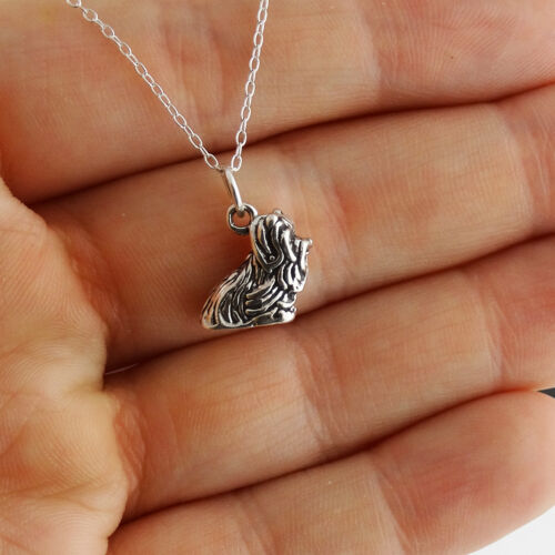 Yorkshire Terrier Chien Collier-Argent Sterling 925-3D Charm Pet Yorkshire NEUF