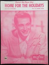 "1954 ""HOME FOR THE HOLIDAYS"" SHEET MUSIC - CHRISTMAS SONG PERRY COMO"