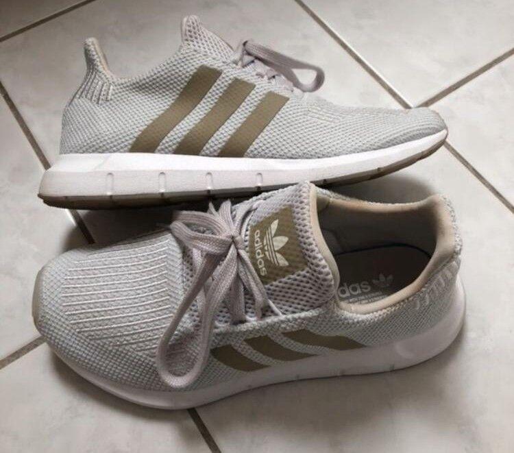 Adidas Swift run Grau ohne cyber metallic crystel Weiß, Größe 36,5.
