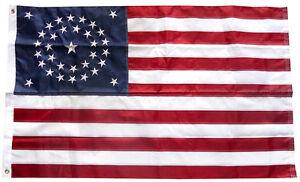 3x5-Embroidered-USA-American-34-Stars-Union-Nylon-Flag-Star-3-039-x5-039-Civil-War