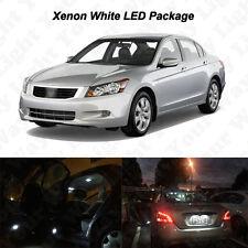 12 x White LED Interior Bulbs + License Plate Lights For 2003-2012 Honda Accord