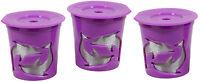 Keurig® 2.0 Coffee Filter Basket Reusable K-cups Pack 3 Refillable Purple