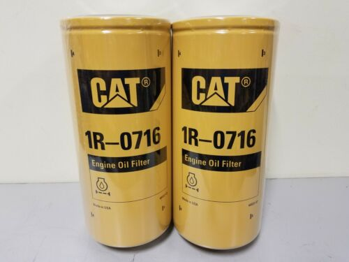 2 PACK 1R-0716 FACTORY SEALED NEW STOCK CATERPILLAR CAT Engine Oil Filter
