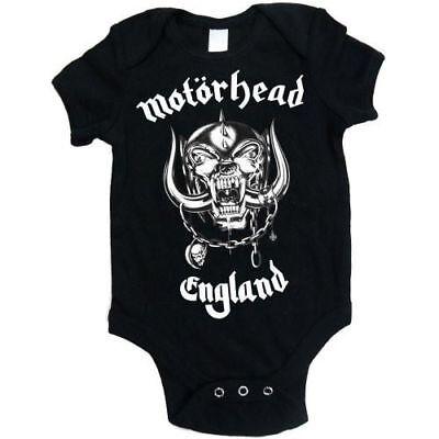Motorhead Official Babygrow Romper England Logo Age 0-18 Months