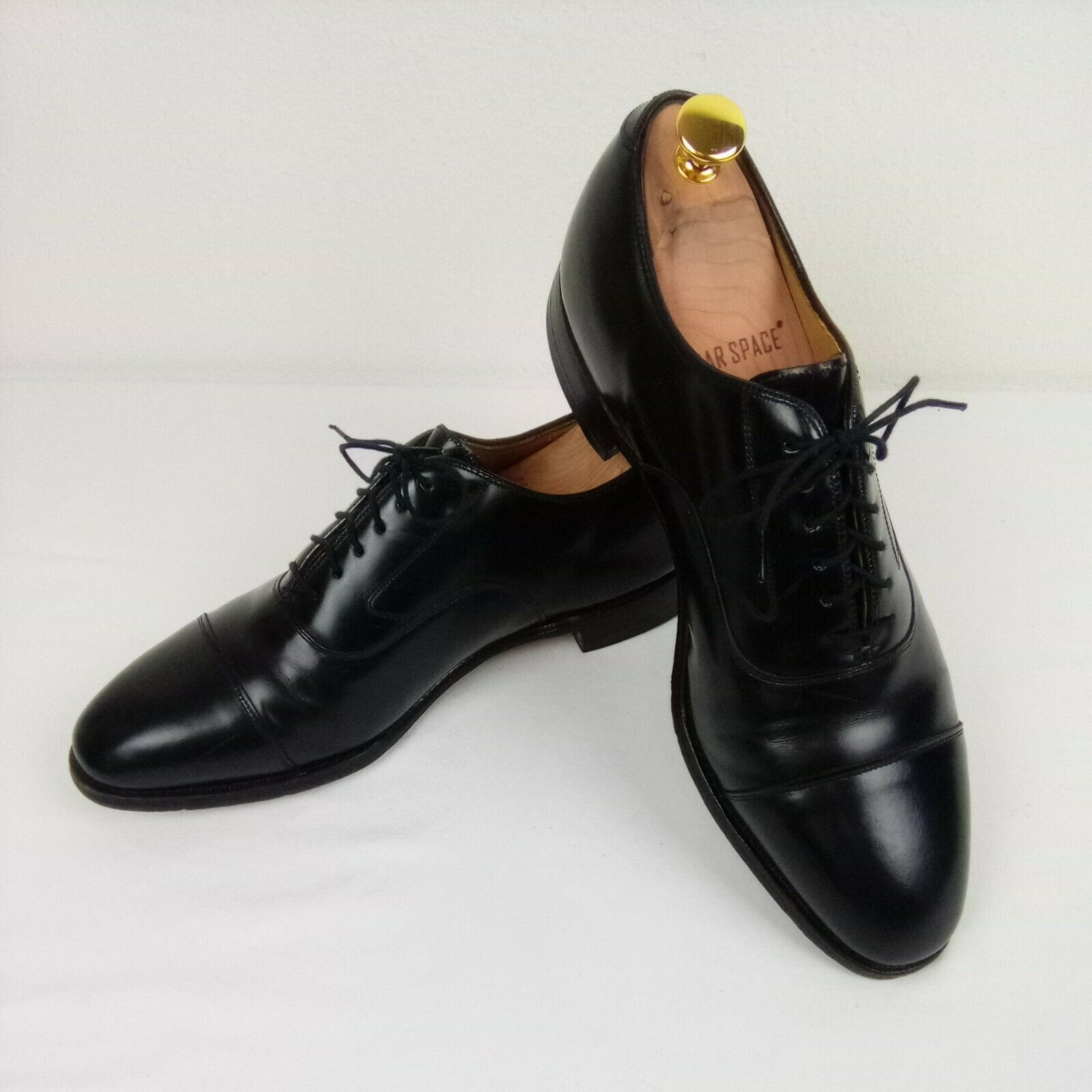 Johnston & Murphy Optima Men's Black Leather Cap Toe Lace Up Oxfords 10.5 D/B