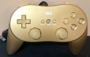 Official-Nintendo-Wii-Gold-Classic-Pro-Controller-RVL-005-02-Tested-Free-Ship