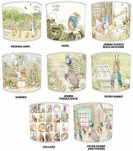 Abat-jour-ideal-pour-correspondre-a-beatrix-potter-peter-rabbit-couettes-papier-peint-amp-coussins