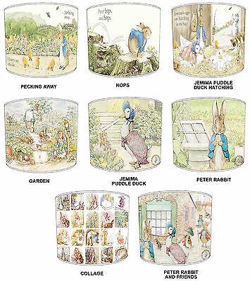 Lampshade Ideal To Match Beatrix Potter Peter Rabbit Duvets Wallpaper & Cushions Goed Voor Energie En De Milt