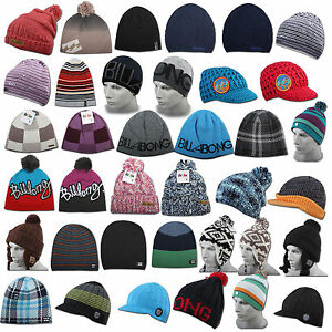 855d26d6bd Billabong Beanie Hat Unisex Women s Men s Long Visor Pompom Slouch ...