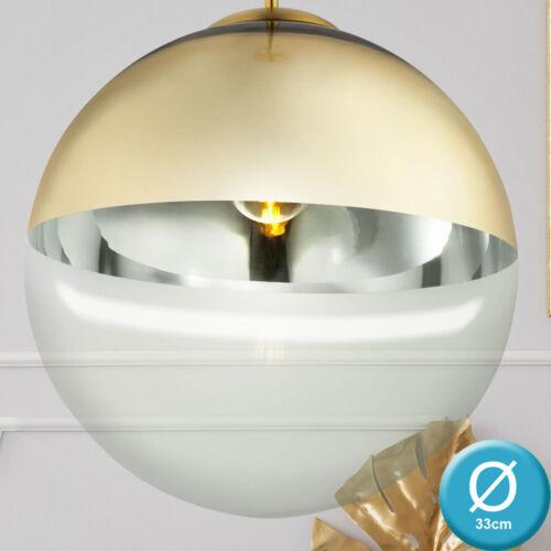 Design Decken Pendel Hänge Lampe GOLD Leuchte Wohn Schlaf Zimmer Leuchte Kugel