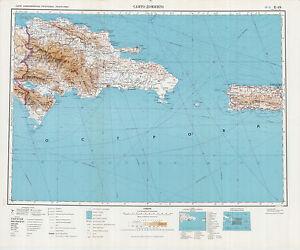 Topographic Map Of Haiti.Russian Soviet Military Topographic Maps Dominican Rep Haiti 1