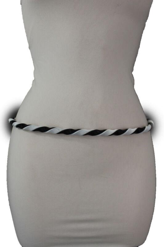 SOLO TAGLIA L Pinker cintura per il momento Buckle piena pelle con bordo inciso