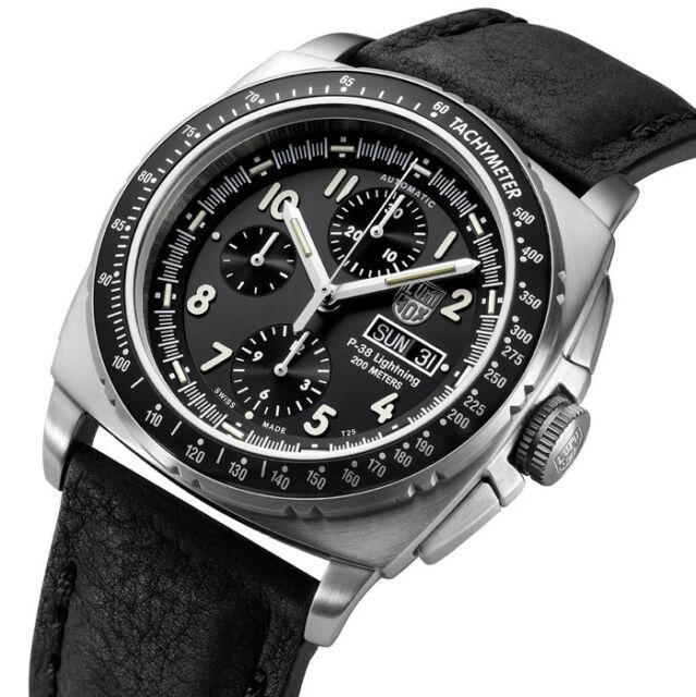 8849baf9aa9 Luminox 9461 P-38 Lightning Swiss Automatic Valjoux 7750 Chronograph Watch