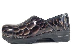 Dansko-Professional-Metallic-Brown-Black-Clogs-Size-42-US-10-5