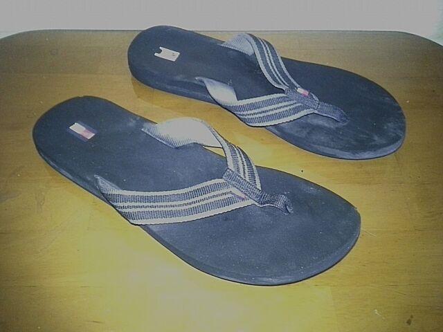 9526f0268548 Tommy Hilfiger-Women s-Flip Flops Sandals-Slip On-Black Olive-Size ...