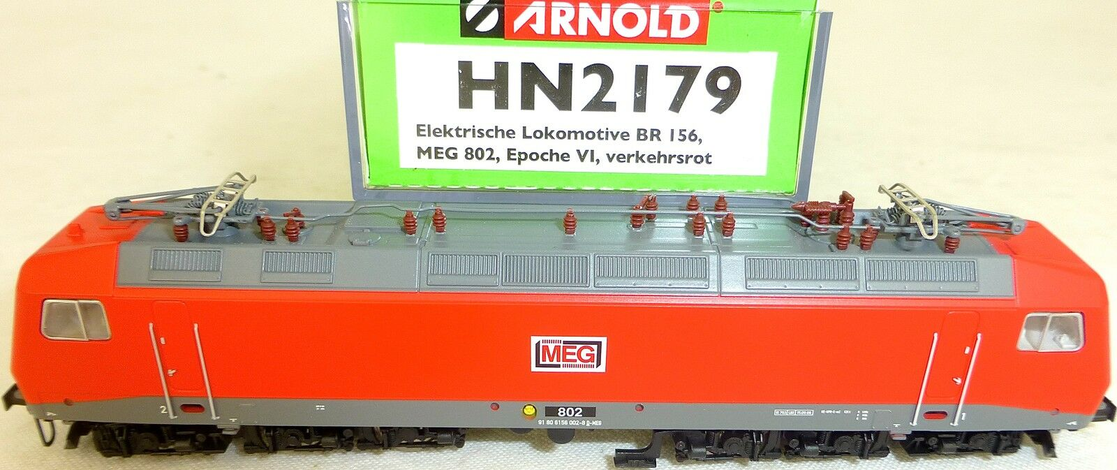 Meg 802 ELOK BR 156 Traffic Red EP6 Arnold HN2179 N 1 160 NEW HS2 µ