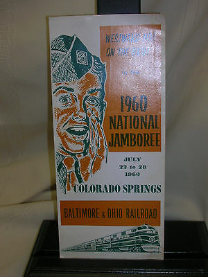 Vintage 1960 Boy Scouts National Jamboree Baltimore & Ohio Railroad