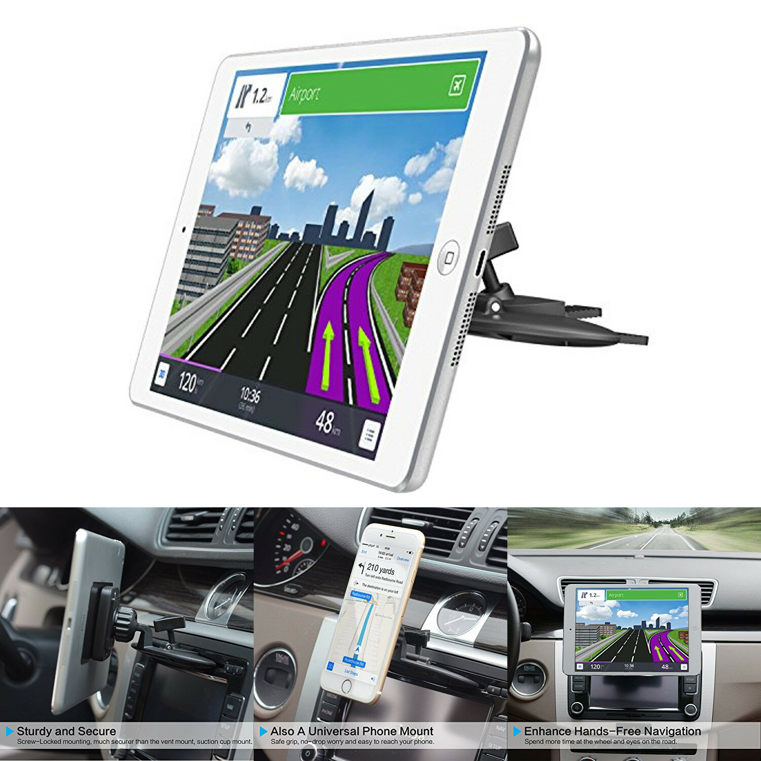 A123 Systems Inc System-S Car CD Slot Mount Car Holder for iPhone 6