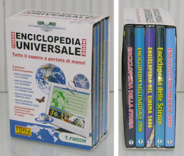 PC CD-ROM ENCICLOPEDIA UNIVERSALE FINSON Storia Scienze Cinema Medica Multimedi