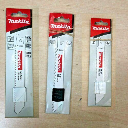 Makita Bois Recip//Coupe Métal//Sabre Lames De Scie P-45680 P-04999 P-04911