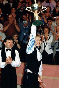 Stephen HENDRY GENUINE SIGNED Autograph 12x8 Photo AFTAL COA UK Snooker Crucible