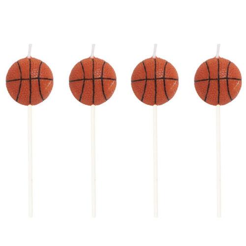 All-Star de Basket-Ball Pick Candles Pack de 4 Fête D/'Anniversaire Décorations