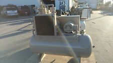 Used 15 Hp Comp Air Open Design 80 Gallon Tank Mounted 230460v 3 Phase