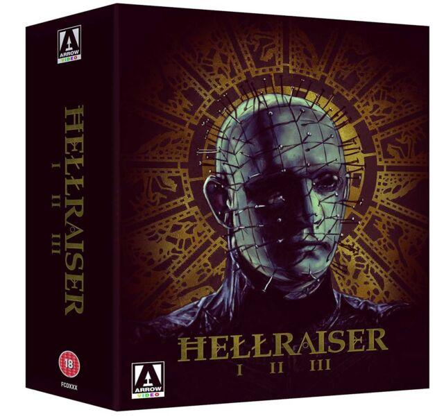 HELLRAISER 1 2 & 3 BLU RAY BOXSET 3 DISC Trilogy  REGION B (AUSTRALIA) BRAND NEW