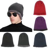 Unisex Men Women Winter Warm Knit Crochet Wool Skull Hat Beanie Baggy Ski Cap