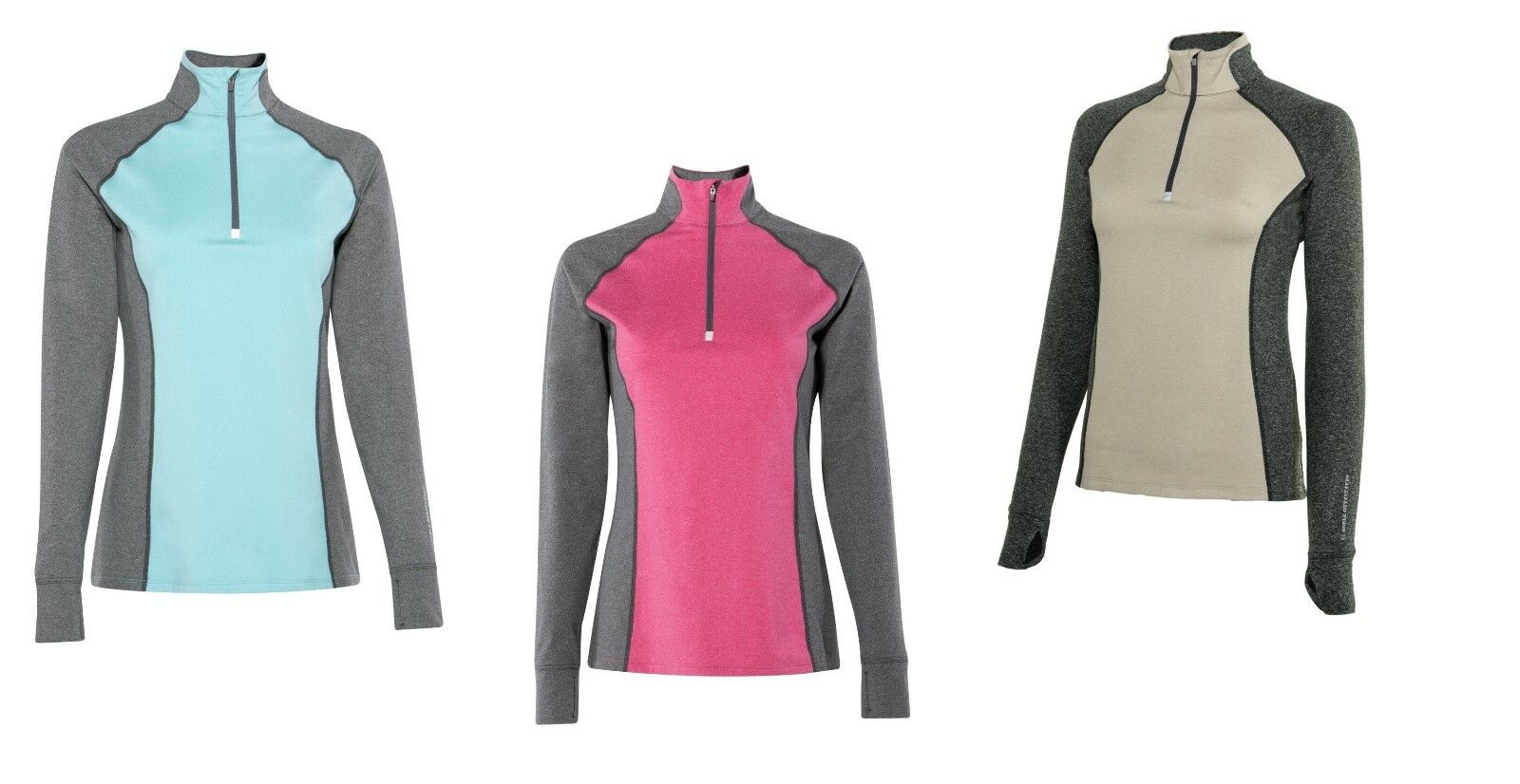 Noble Outfitters Equine Horse Athena Quarter Zipper Long Sleeve Top Shirt