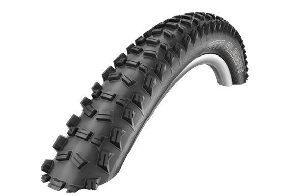 EXCELLENT SCHWALBE EVOLUTION 'FAT ALBERT' FRONT SNAKESKIN CYCLING TYRE 26 x 2.25