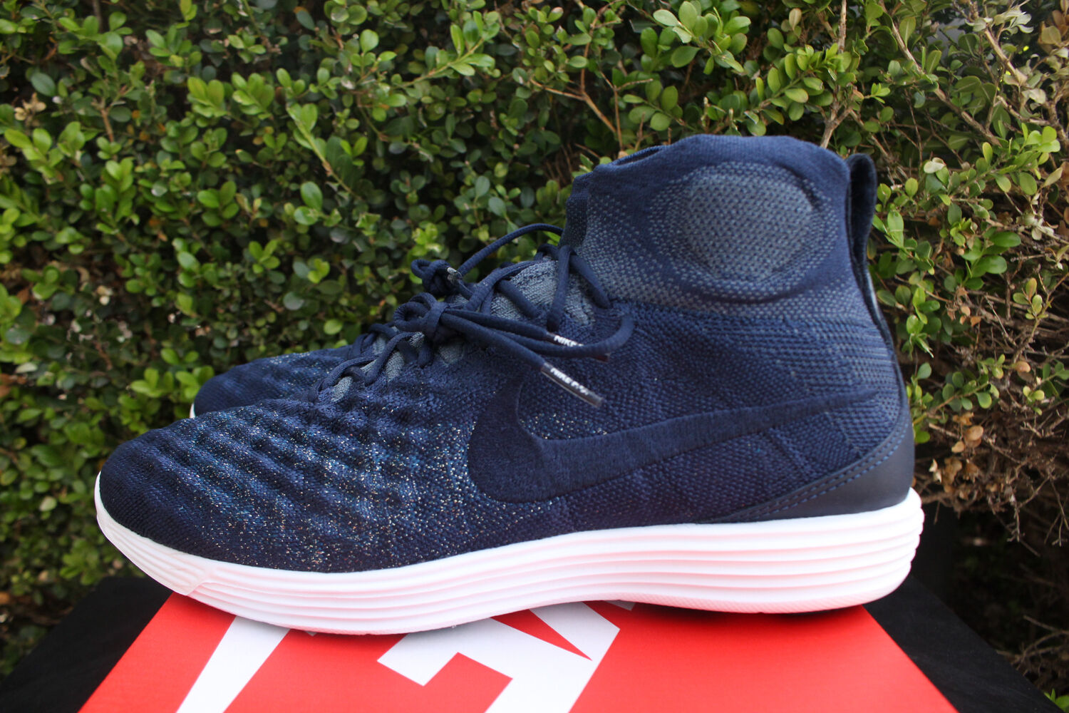 1ff60dcd51bab NIKE LUNAR II 2 FLYKNIT FC SZ 9.5 COLLEGE NAVY blueE WHITE 876385 400 FOX  MAGISTA nocvyn731-new shoes