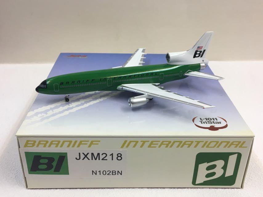 Jet-X 1 400 Braniff Internation Tristar L-1011 Green Green Green Jellybean JXM218 N102BN 00a42a