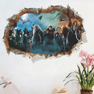 Xl 3d Wandtattoo Tapeten Harry Potter Hogwarts Film Sticker Aufkleber Bild Deko Ebay