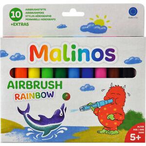 BloPens-Blo-Pens-Pustestifte-Airbrush-Rainbow-10er-Set-NEU-300914