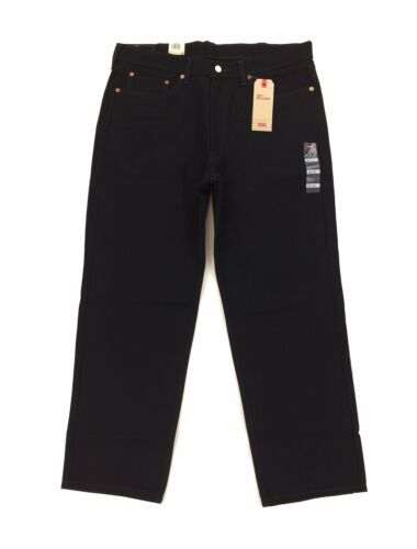 NEW Levi/'s Strauss 550 Relaxed Fit Tapered Leg Black Mens Denim Jeans Red Tab