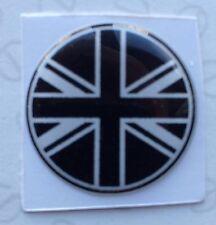 20mm Bandera Unión Jack Negro Blanco Pegatina Austin Mini Cooper Morris Rover Ford