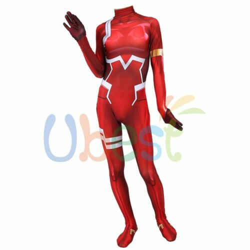 Darling in the Franxx Zero Two 02 Cosplay Costume Bodysuit For Kids Adult