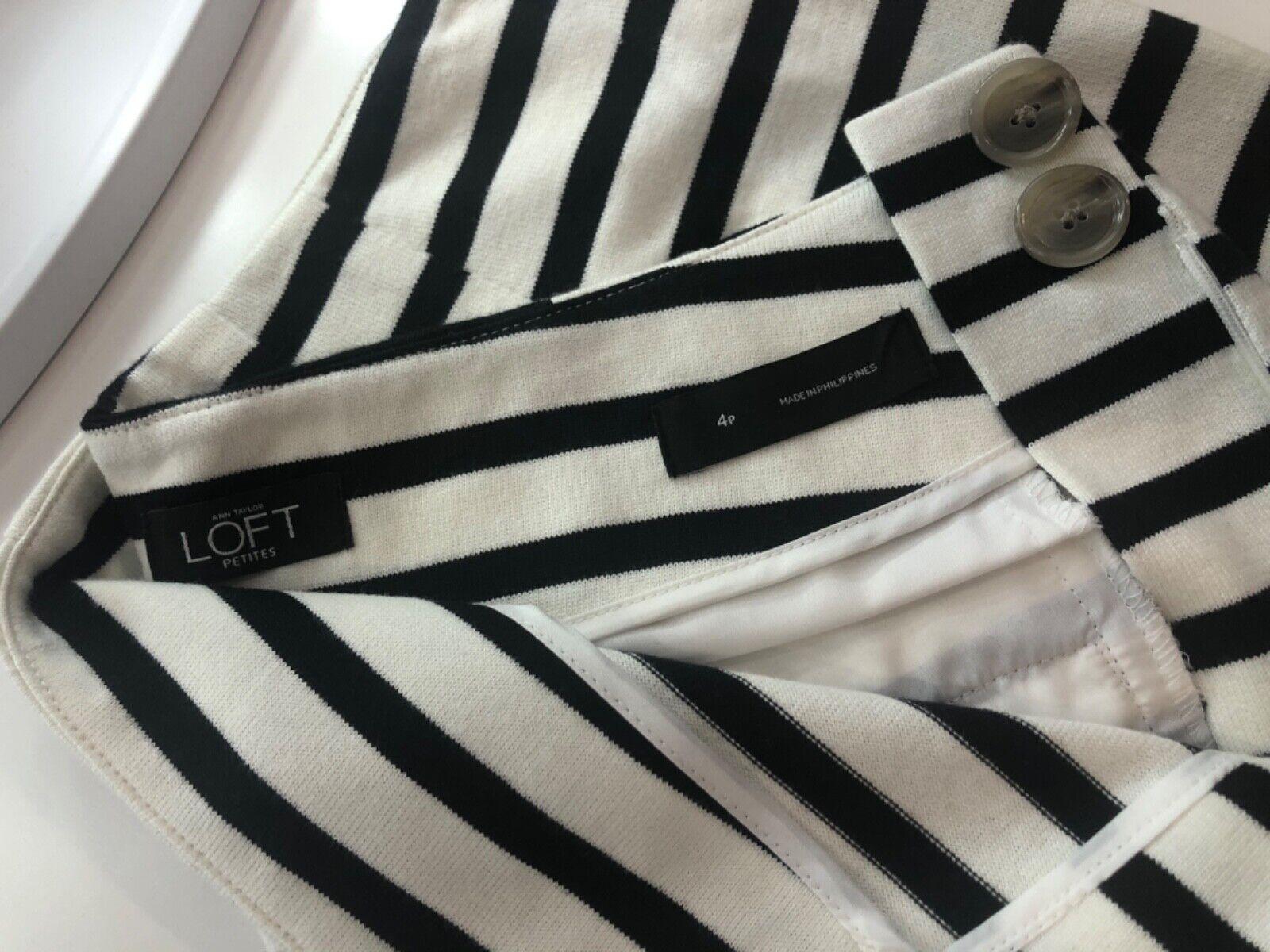 Ann Taylor LOFT Tailored Cotton Striped Shorts Wo… - image 4