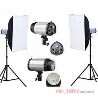 2*250W Fotostudio Set Studioleuchte Synchronblitzlampe Studioset Studioblitz DHL