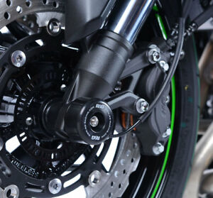 Kawasaki-Z900-Z900RS-2017-2019-R-amp-G-racing-black-fork-crash-protectors-bobbins