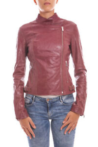new styles b812f 098f4 Dettagli su Giubbotto Armani Jeans AJ Jacket Pelle MADE IN ITALY Donna  Rosso B5B36VB Cam 4U