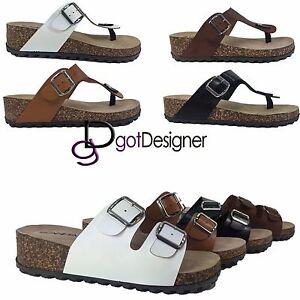 New-Women-039-s-Straps-Footbed-Sandals-Buckle-Thong-Flip-Flop-Platform-Casual-Shoes
