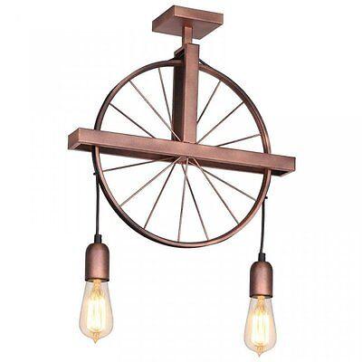 Lampada da soffitto luce moderno industriale di design soggiorno vintage