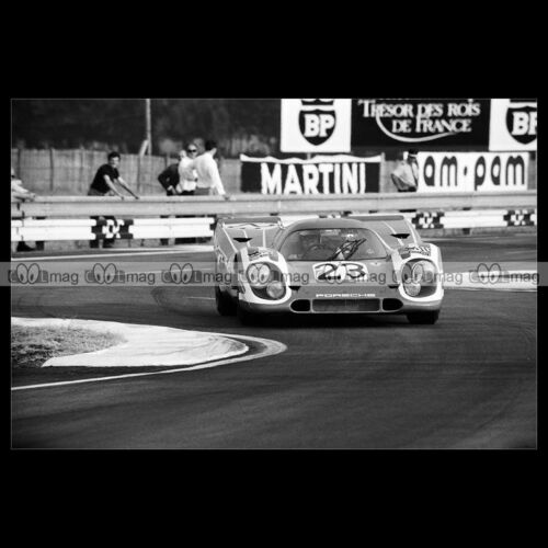 #pha.015128 Photo PORSCHE 917 K ATTWOOD-HERRMANN 24 HEURES DU MANS 1970 Car Auto